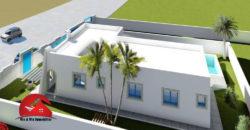 CONSTRUCTION MAISON PLAIN PIED AVEC PISCINE A DJERBA HOUMT SOUK