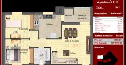 Appartement S+2 Borj cédria