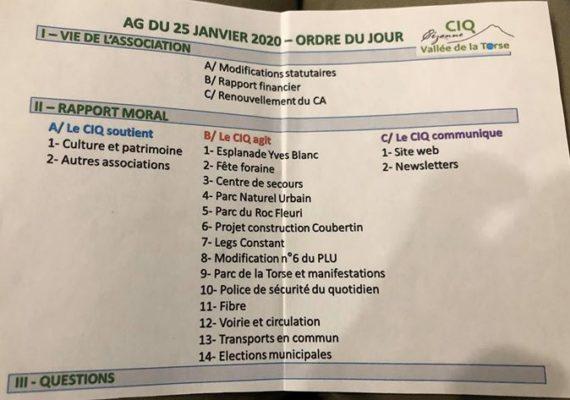 CG immobilier soutient et participe à l'AG du CIQ de la Torse!