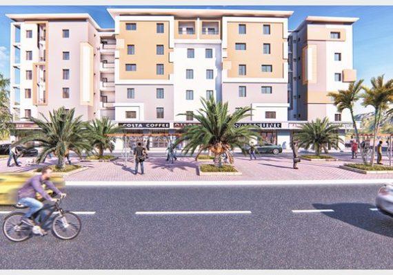 » Résidence Mahdi «composé de plusieurs types d'appartements