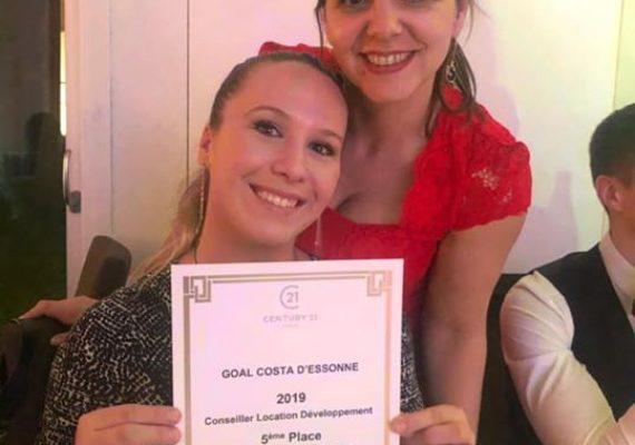 Bravo à Sandra Inaya qui se place 5ème du département de l'Essonne dans la catégorie Conseillers Location ? et ce n'est que le début ???