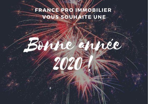 L'équipe France Pro Immobilier vous remercie de votre confiance en 2019 et vous présente ses meilleurs vœux pour l'année 2020??