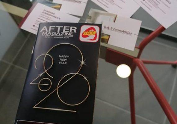 Un super agence, dynamique et proche de ses clients, communique dans After Magazine ce mois-ci