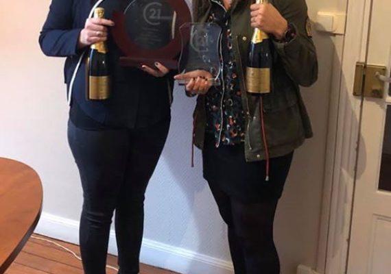 Félicitations à Laurie et Anne-Sophie pour leurs 2 premières places de meilleures Conseillères Location de la grande région.