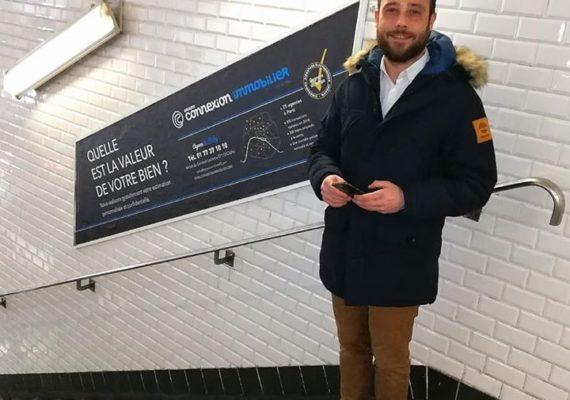 On a choisi le bon moment pour une pub dans le métro… :D