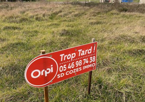 Terrains vendu sur corme écluse#orpicozes#contacter nous au 05.46.98.74.38