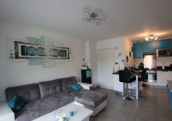 ?Appartement ?- Meublé – T2 – 37.9 m² – 1 chambre avec dressing ? – Une salle d'eau – Une cuisine équipée et aménagée – Une terrasse ? – Copropriété récente ?