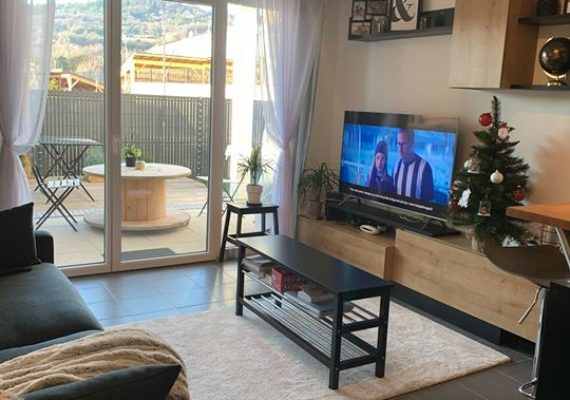 Appartement – 40.78 m² – T2 – 1 chambre – 1 salle d'eau – Cuisine équipée aménagée ? – Copropriété récente – Place de parking – Terrasse – Jardin ?
