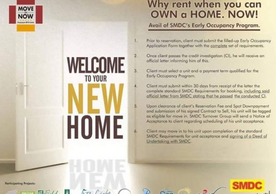 Move in to your new HOME and start earning early from Php30K-90K monthly!