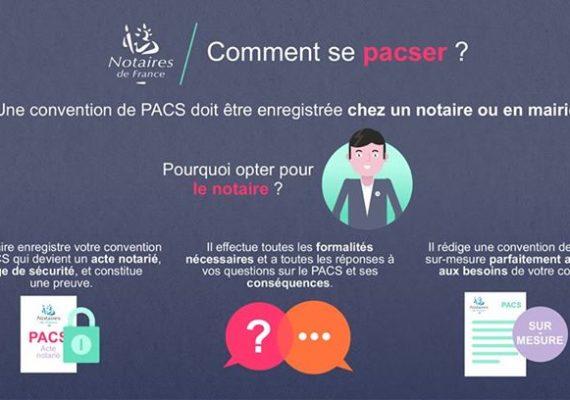 ? Vous êtes nombreux à nous questionner sur le #PACS, notamment lors d'une acquisition immobilière. Alors voici la réponse en image par Notaires de France.