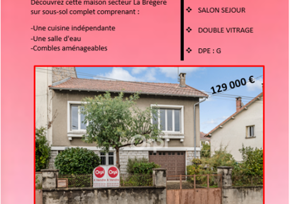 Venez rencontrer Orpi Marion Noblet et Damien Joffre ce vendredi 10 janvier à partir de 15h30 pour visiter cette maison située 184 Rue de la Brégere à LIMOGES ??