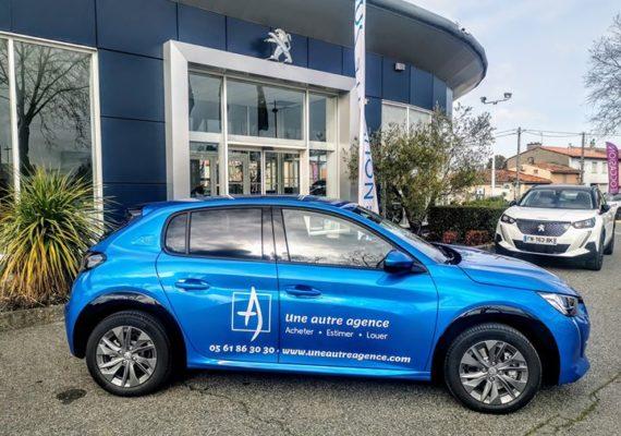 Nous roulons en voiture électrique pour estimer ou visiter vos biens immobiliers dans l'ouest toulousain ♻️