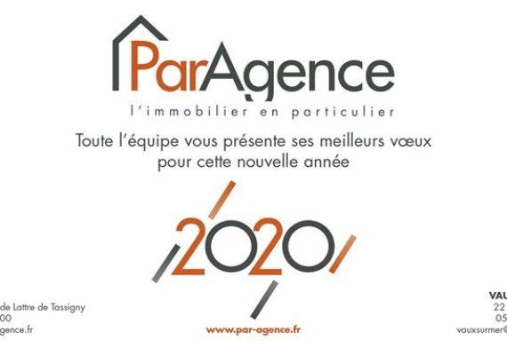 Toute l'équipe de ParAgence Royan & ParAgence Vaux Sur Mer remercie de leur confiance leurs clients. Cette confiance nous a permis de réaliser plus de 160 PROJETS IMMOBILIERS en 2019 et nous vous souhaitons à toutes et à tous une excellente année 2020 et nous sommes à votre disposition au 05 46 22 10 00