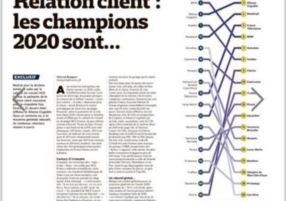 Pour la 5 ème année consécutive, Century 21 France numéro 1 du classement HCG Les Échos de la relation clients.