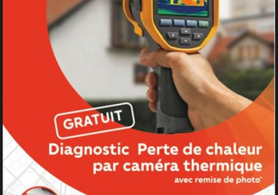 Dans le cadre de notre nouvelle opération de sensibilisation sur la déperdition énergétique, obtenez « GRATUITEMENT « les photos de votre logement par caméra thermique et visualisez PAR OÙ LE FROID RENTRE!!!!!!!