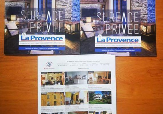 ?Retrouvez toutes nos Exclusivités dans le nouveau numero de février Surface Privée by la Provence… ???️♂️☎️0490673093