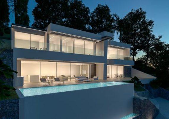 Grande villa moderne de 271 m², surplombant la mer et les montagnes, nichée sur le prestigieux secteur d'Altea Hills.