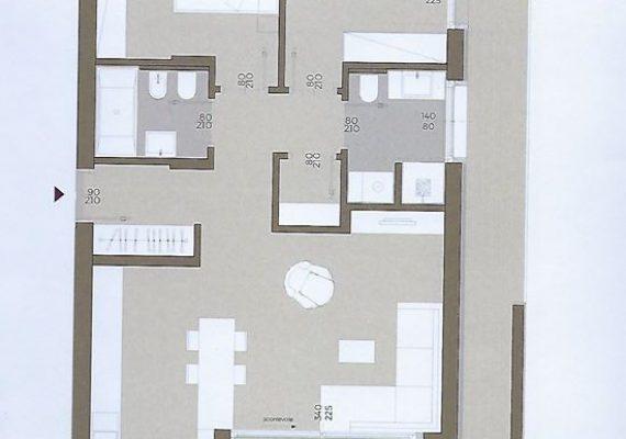 Bozen, Gries Village, am Grieser Platz, in Bau, sehr schöne 3-Zimmer-Penthousewohnung mit zwei Bädern, Terrasse, Klimahaus A-nature, in Bau, Euro 598.000.-+ Mwst.