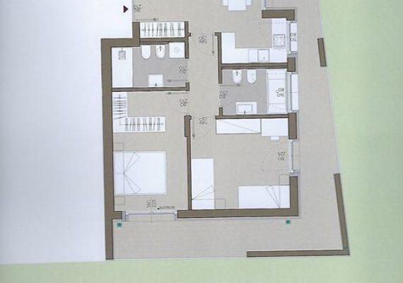 Bozen, Gries Village, am Grieser Platz, intern und ruhig gelegen, herrliche 3-Zimmer-Gartenwohnung, in Bau, Klimahaus A-nature, Preis Euro 535.000.-+ Mwst.