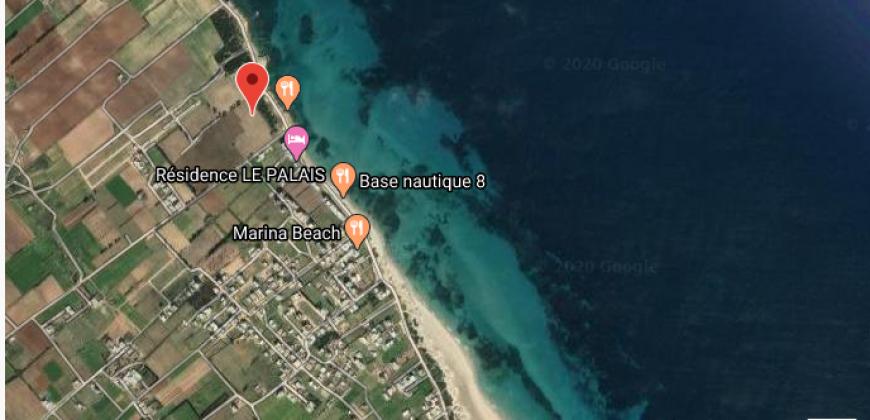 à vendre terrain à plage dar allouche kélibia