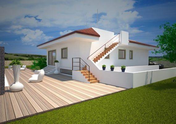 Proponiamo in Contrada Lamandia a pochi metri dal mare villa di nuova costruzione con piscina.