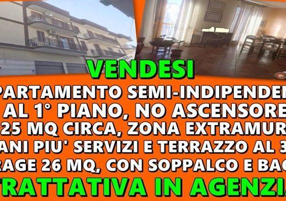 Conticchio Immobiliare Vende: Appartamento Semi-Indipendente, al 1° piano, no ascensore, di 120 mq circa, in zona Extramurale.