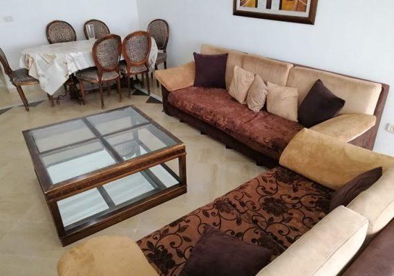 Location vacance à Tunis cité les palmeraie route la marsa appartement trois chambres richement meublé