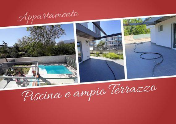 La vera felicità sta nelle piccole cose: un appartamento di nuova costruzione con ampio terrazzo e piscina. 😍🤩🤽♂️