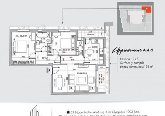 𝑻𝑯𝑬 𝑨𝑫𝑫𝑹𝑬𝑺𝑺 R+2 🇹🇳, est une résidence qui se démarque par son élégance discrète qui signe son standing haut de gamme.