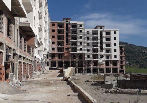 Lot 01 en cours de peinture intérieure, ravalement de façades et création des accès des bâtiments 7 et 8