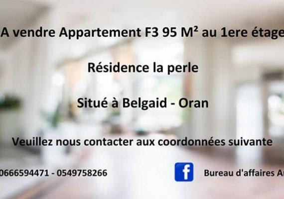 Bureau d'affaires Amil 🏘 propose un tres joli appartement F3 bien finis de 95m² au 1er étage dans une belle résidence à Belgaid avec toute commodité