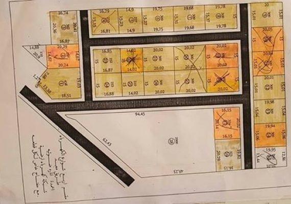 قطعة أرض تجارية واجهتين للبيع مساحتها 2900م²