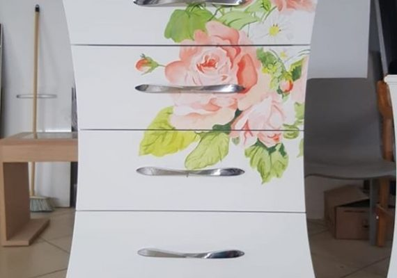 Hand painted design . .