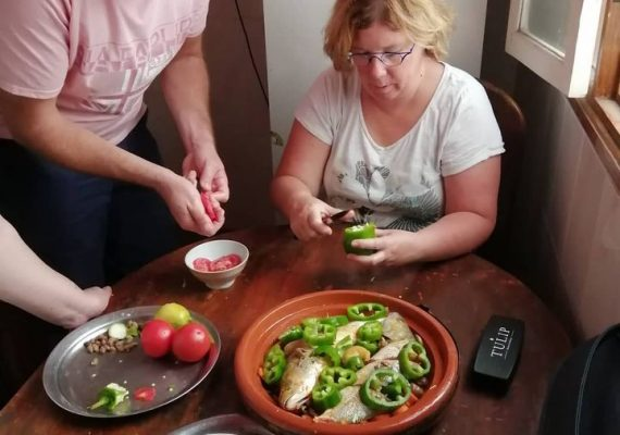 Cooking class, a fish Moroccan tajine ❤️🤩💯