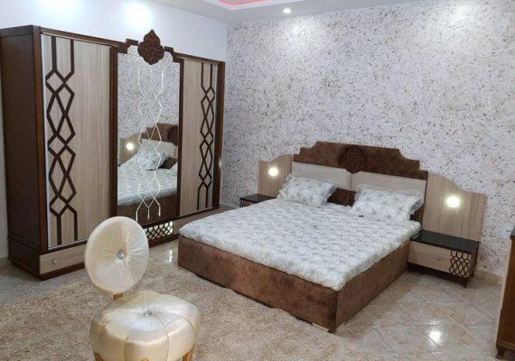 عرض ممتاز🎉🎉غرف نوم ذات 3 أبواب منزلقة خشب احمر