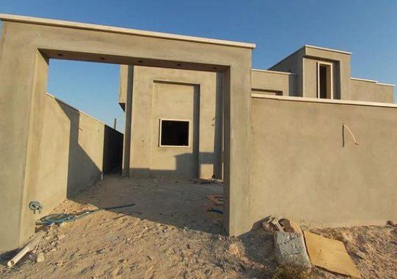 منزل للبيع في منطقة راس النجار بالقرب من الرعيضات ، المنزل قيد التشطيب امليس ومخدوم جبس والرخام