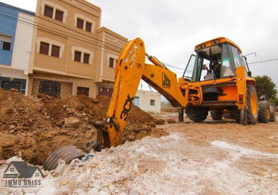 انطلاق عملية البناء في عمارتنا باولاد بوطيب في الناظور.
