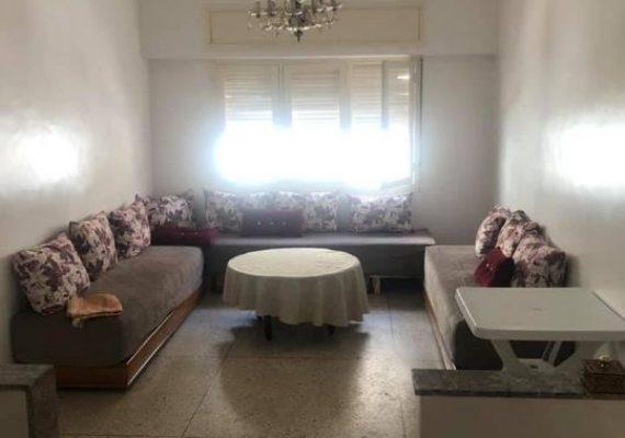 A louer, appartement de 74m² situé à Hassan place du 16 novembre près de la ligne du tramway en face de la pharmacie mausolée dans un immeuble calme, propre et sécurisé