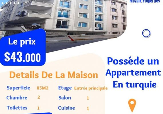 Appartement A vendre dans à #Istanbul #Beylikdüzü juste a 43.000 dollar