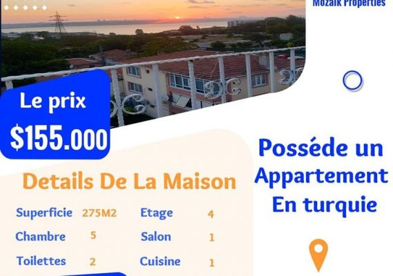 شقة دوبكس للبيع في مدينة #Istanbul #Küçükçekmece بـ $ 155.000 فقط