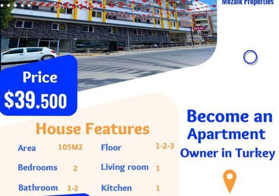 Appartement A vendre dans à #Istanbul #Esenyurt juste a 39.500 dollar