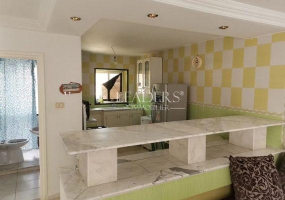 À vendre chez notre agence LEADERS_IMMO un appartement de style S+2 avec une grande terrasse située à Borj Cedria en pleine zone touristique.