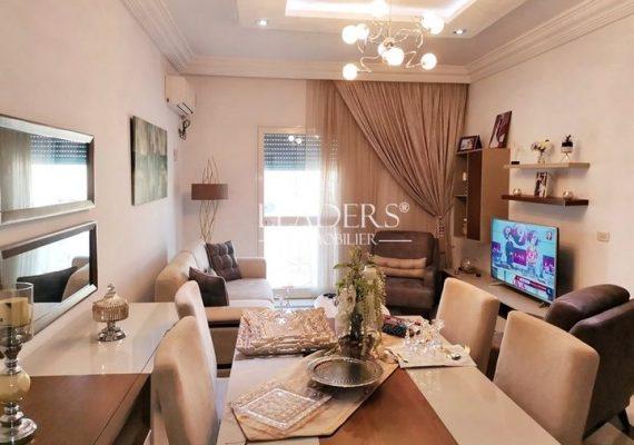 À vendre chez notre agence LEADERS_IMMO un appartement de style S+2 avec abri voiture située à Borj Cedria en pleine zone touristique.