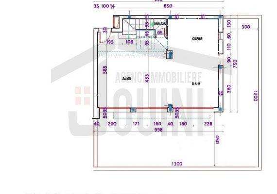 🤩😍Immobilière Jouini Met A VENDRE Duplex Inachevé R+2 dans un Quartier Résidentiel situé à Borj Louzir Ariana pas Loin de carrefour Express et Aziza