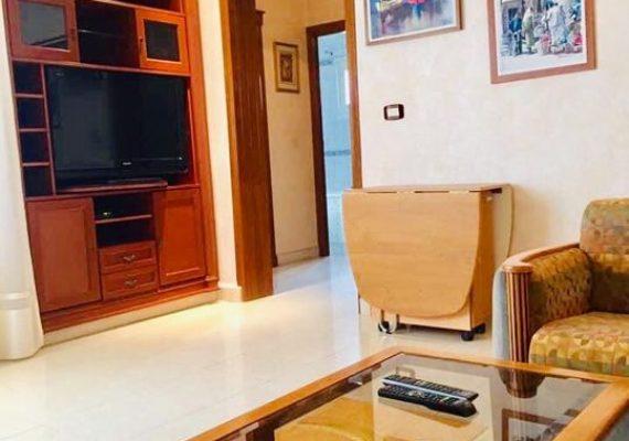 sousse face tej marhaba ,950 dt / mois a louer a l année un appartement haut standing face à tej mahal, cet appartement est de type s2 spacieux joliment meublé et décoré.uniquement pour location annuelle