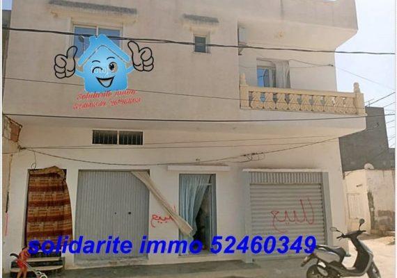 a vendre 2 maisons et 2 garages au centre ville kelibia