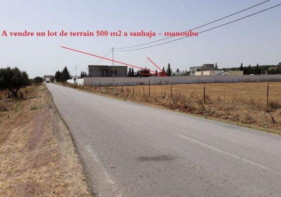 Lot de Terrain 500 m2 a Sanhaja – Manouba