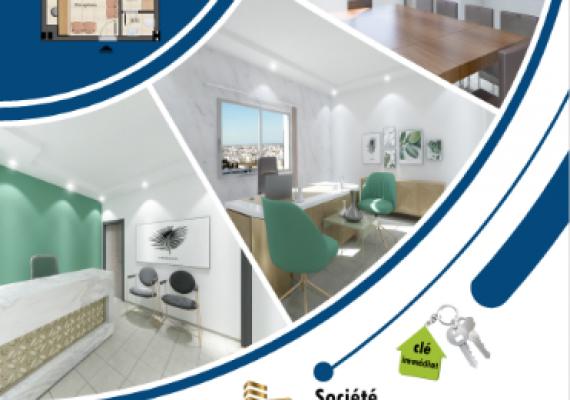 #Immobilière #El #Hamd vous propose des bureaux s+1 , s+2 , s+3 de très haut standing situés à ksar Hellal en face de clinique ben salah , offre un cadre de travail prestigieux, parfaitement sécurisé et confortable.