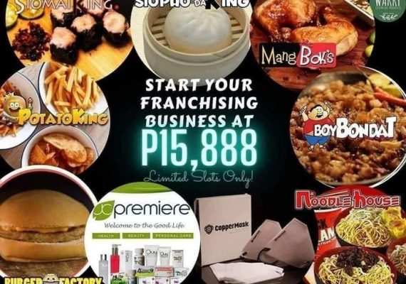 Be an Online Franchisee for as low as 15,888 pesos only.