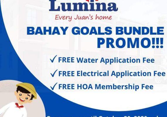 Mga Kabarangay Handog Ng Lumina Homes ,👏☺️BAHAY GOALS BUNDLE PROMO☺️👏